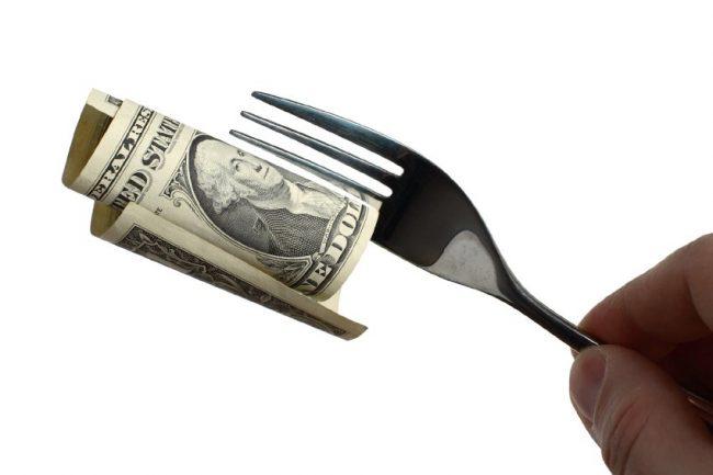 Деньги на вилках